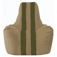 Кресло-мешок Спортинг бежевый - тёмно-оливковый С1.1-82