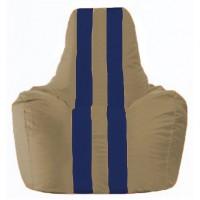Кресло-мешок Спортинг бежевый - тёмно-синий С1.1-80