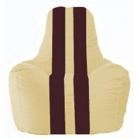 Кресло-мешок Спортинг светло-бежевый - бордовый С1.1-150