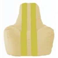 Кресло-мешок Спортинг светло-бежевый - жёлтый С1.1-148
