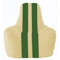 Кресло-мешок Спортинг светло-бежевый - зелёный С1.1-147