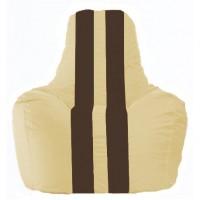 Кресло-мешок Спортинг светло-бежевый - коричневый С1.1-146