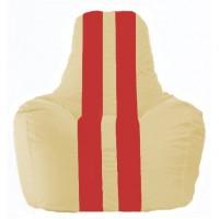Кресло-мешок Спортинг светло-бежевый - красный С1.1-145