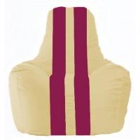 Кресло-мешок Спортинг светло-бежевый - лиловый С1.1-131