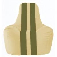 Кресло-мешок Спортинг светло-бежевый - оливковый С1.1-144