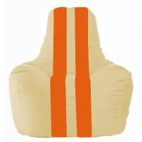 Кресло-мешок Спортинг светло-бежевый - оранжевый С1.1-143