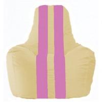 Кресло-мешок Спортинг светло-бежевый - розовый С1.1-142