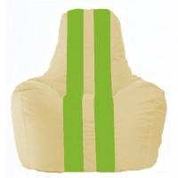 Кресло-мешок Спортинг светло-бежевый - салатовый С1.1-141
