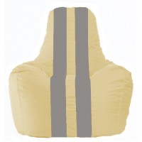 Кресло-мешок Спортинг светло-бежевый - серый С1.1-140