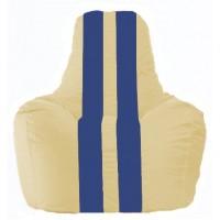 Кресло-мешок Спортинг светло-бежевый - синий С1.1-139