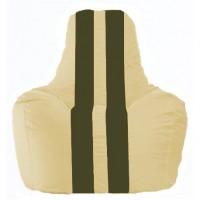 Кресло-мешок Спортинг светло-бежевый - тёмно-оливковый С1.1-135