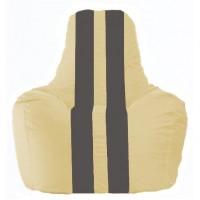 Кресло-мешок Спортинг светло-бежевый - тёмно-серый С1.1-134