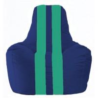 Кресло-мешок Спортинг синий - бирюзовый С1.1-124