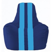 Кресло-мешок Спортинг синий - голубой С1.1-129