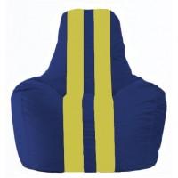 Кресло-мешок Спортинг синий - жёлтый С1.1-128