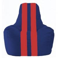 Кресло-мешок Спортинг синий - красный С1.1-122