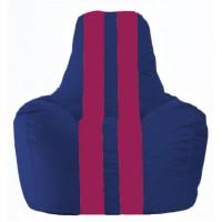 Кресло-мешок Спортинг синий - лиловый С1.1-116