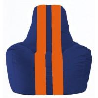 Кресло-мешок Спортинг синий - оранжевый С1.1-127