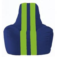 Кресло-мешок Спортинг синий - салатовый С1.1-119