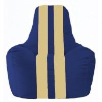 Кресло-мешок Спортинг синий - светло-бежевый С1.1-121