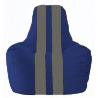 Кресло-мешок Спортинг синий - серый С1.1-139