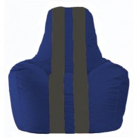 Кресло-мешок Спортинг синий - тёмно-серый С1.1-118