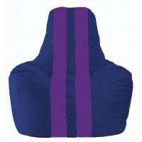 Кресло-мешок Спортинг синий - фиолетовый С1.1-117