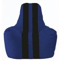 Кресло-мешок Спортинг синий - чёрный С1.1-115