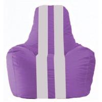 Кресло-мешок Спортинг сиреневый - белый С1.1-113