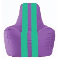 Кресло-мешок Спортинг сиреневый - бирюзовый С1.1-112