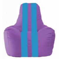 Кресло-мешок Спортинг сиреневый - голубой С1.1-111