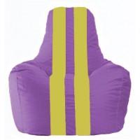 Кресло-мешок Спортинг сиреневый - жёлтый С1.1-100