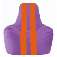 Кресло-мешок Спортинг сиреневый - оранжевый С1.1-110