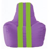 Кресло-мешок Спортинг сиреневый - салатовый С1.1-108