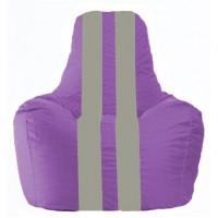 Кресло-мешок Спортинг сиреневый - серый С1.1-106