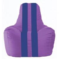 Кресло-мешок Спортинг сиреневый - синий С1.1-105