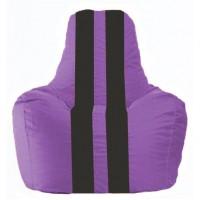 Кресло-мешок Спортинг сиреневый - чёрный С1.1-101