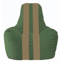 Кресло-мешок Спортинг тёмно-зелёный - бежевый  С1.1-60
