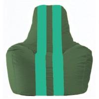 Кресло-мешок Спортинг тёмно-зелёный - бирюзовый  С1.1-66