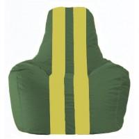 Кресло-мешок Спортинг тёмно-зелёный - жёлтый С1.1-65