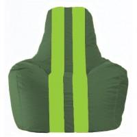 Кресло-мешок Спортинг тёмно-зелёный - салатовый С1.1-63