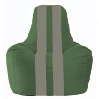 Кресло-мешок Спортинг тёмно-зелёный - серый С1.1-61