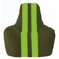 Кресло-мешок Спортинг тёмно-оливковый - салатовый С1.1-55