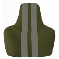 Кресло-мешок Спортинг тёмно-оливковый - серый С1.1-53