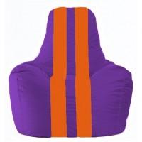 Кресло-мешок Спортинг фиолетовый - оранжевый С1.1-33
