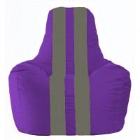 Кресло-мешок Спортинг фиолетовый - тёмно-серый С1.1-69